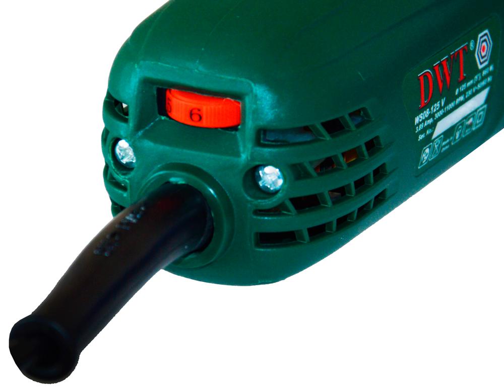 Болгарка с регулятором DWT WS08-125 V